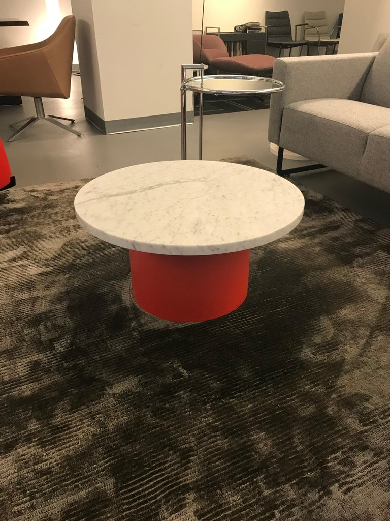 Enoki White Marble-Top Side Table by Philipp Mainzer For Sale 2
