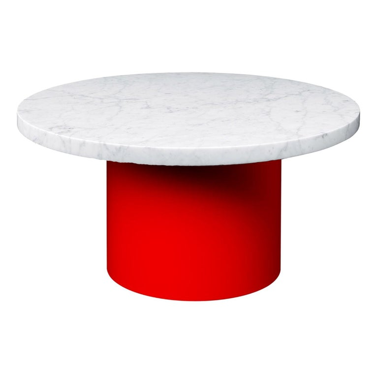 Enoki White Marble-Top Side Table by Philipp Mainzer For Sale