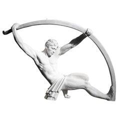 Enormous 1930's Art Deco Sculpture after Chiparus