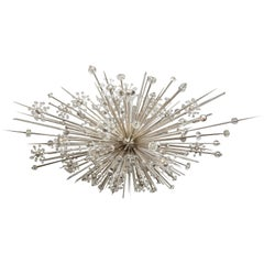 Enormous Austrian Crystal and Glass Rod Custom Sputnik