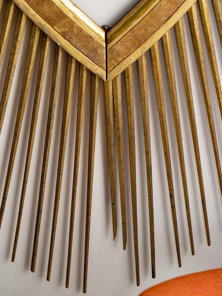 Enormous Italian Art Deco Oval Starburst Sunburst Gilded Frame, circa 1930 For Sale 6