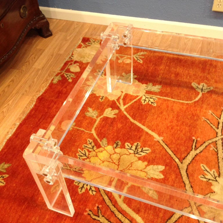 Enormous Lucite Cocktail Table For Sale 3