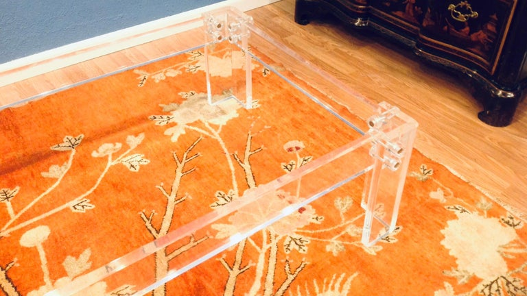 Enormous Lucite Cocktail Table For Sale 4