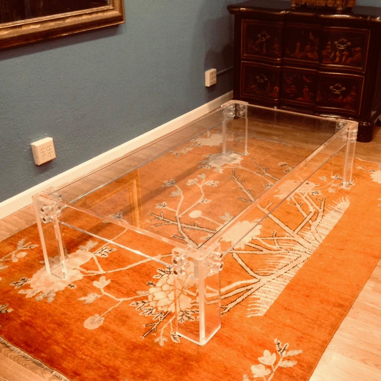 Enormous Lucite Cocktail Table For Sale 5
