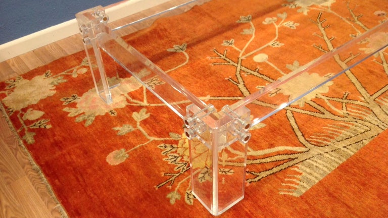 Enormous Lucite Cocktail Table For Sale 1