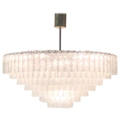 Midcentury 40-Light Glass Chandelier by Doria, circa 1960s