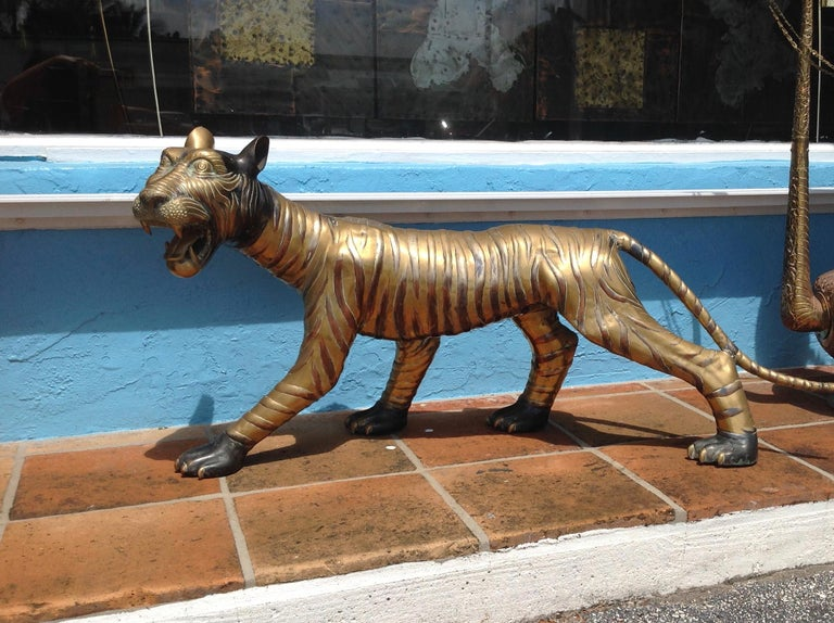 Mid-Century Modern Enormous Midcentury Figure of a Tiger For Sale