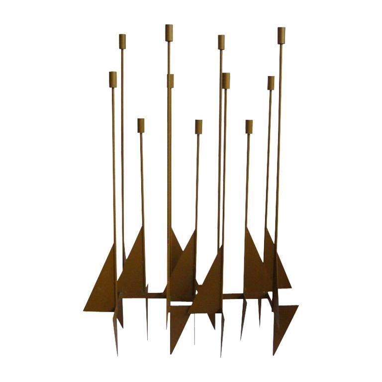 Enormous Rare Modernist Candelabrum by Donald Drumm For Sale