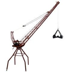 Enormous Pre-War Toy Steel Hoisting Crane