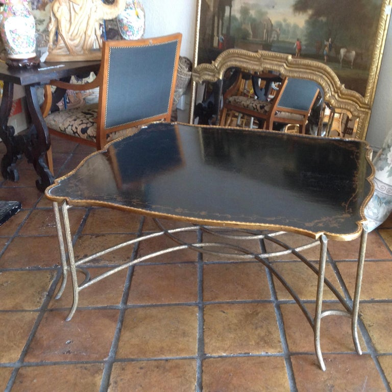 1970s Enormous Tray Top Style Coffee Table For Sale