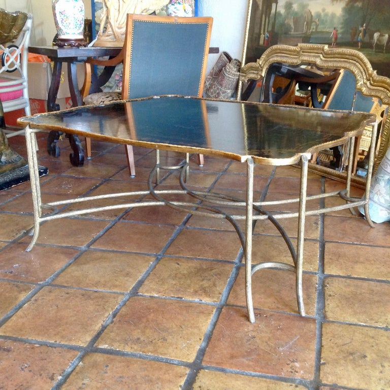 Metal Enormous Tray Top Style Coffee Table For Sale