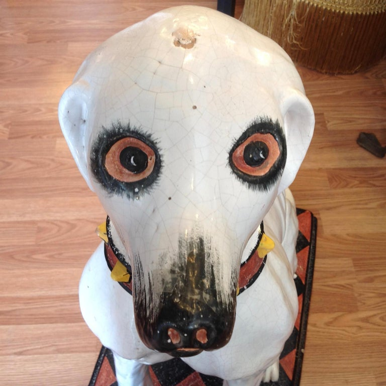 Enormous Whimsical Midcentury Statue of a Dog For Sale 7