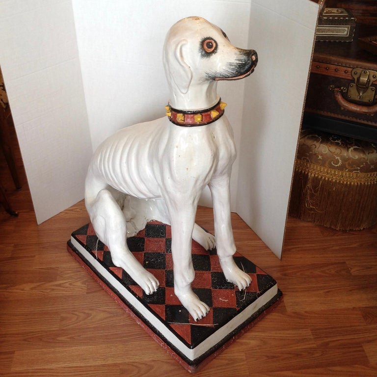 Italian Enormous Whimsical Midcentury Statue of a Dog For Sale