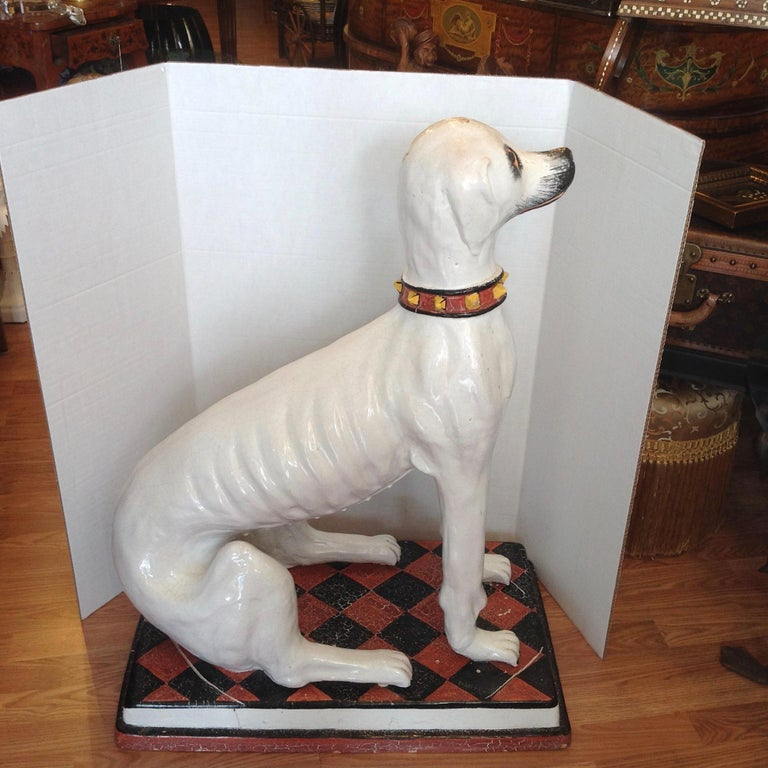 Enormous Whimsical Midcentury Statue of a Dog In Good Condition For Sale In West Palm Beach, FL