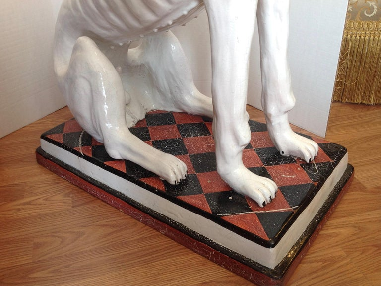 20th Century Enormous Whimsical Midcentury Statue of a Dog For Sale