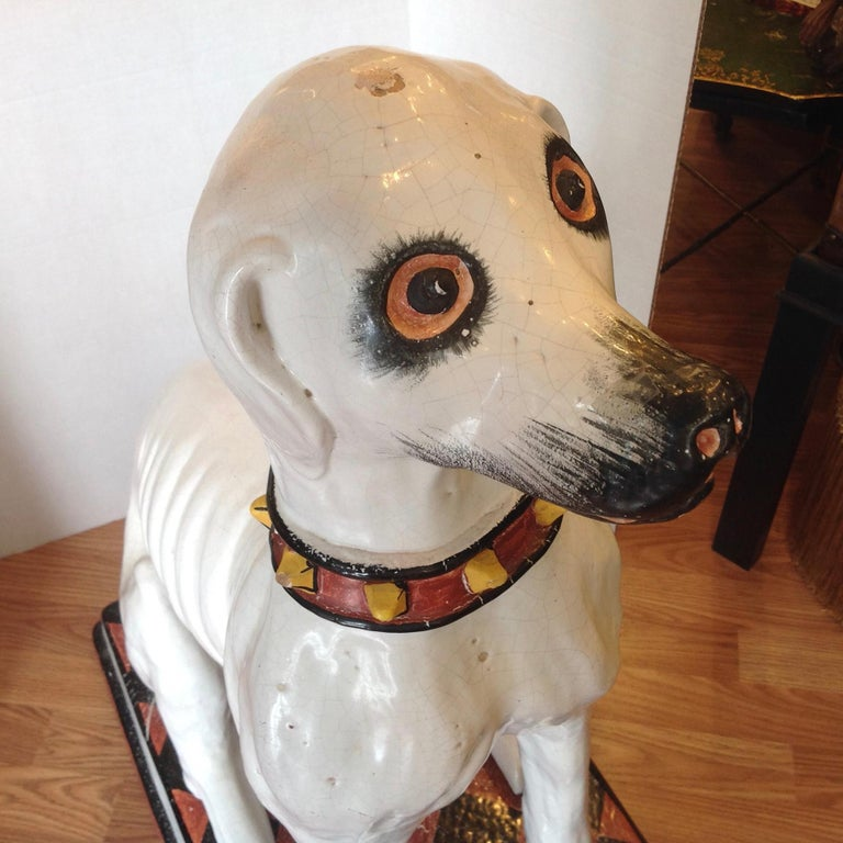 Enormous Whimsical Midcentury Statue of a Dog For Sale 1