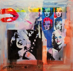 """""""The Glamorous Life"""" by Enric Pont 39"""" x 39"""" Mixed Media on Canvas"""