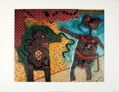 1977 Enrico Baj 'Generale Nell'Intimita' Surrealism Multicolor France Offset Lit