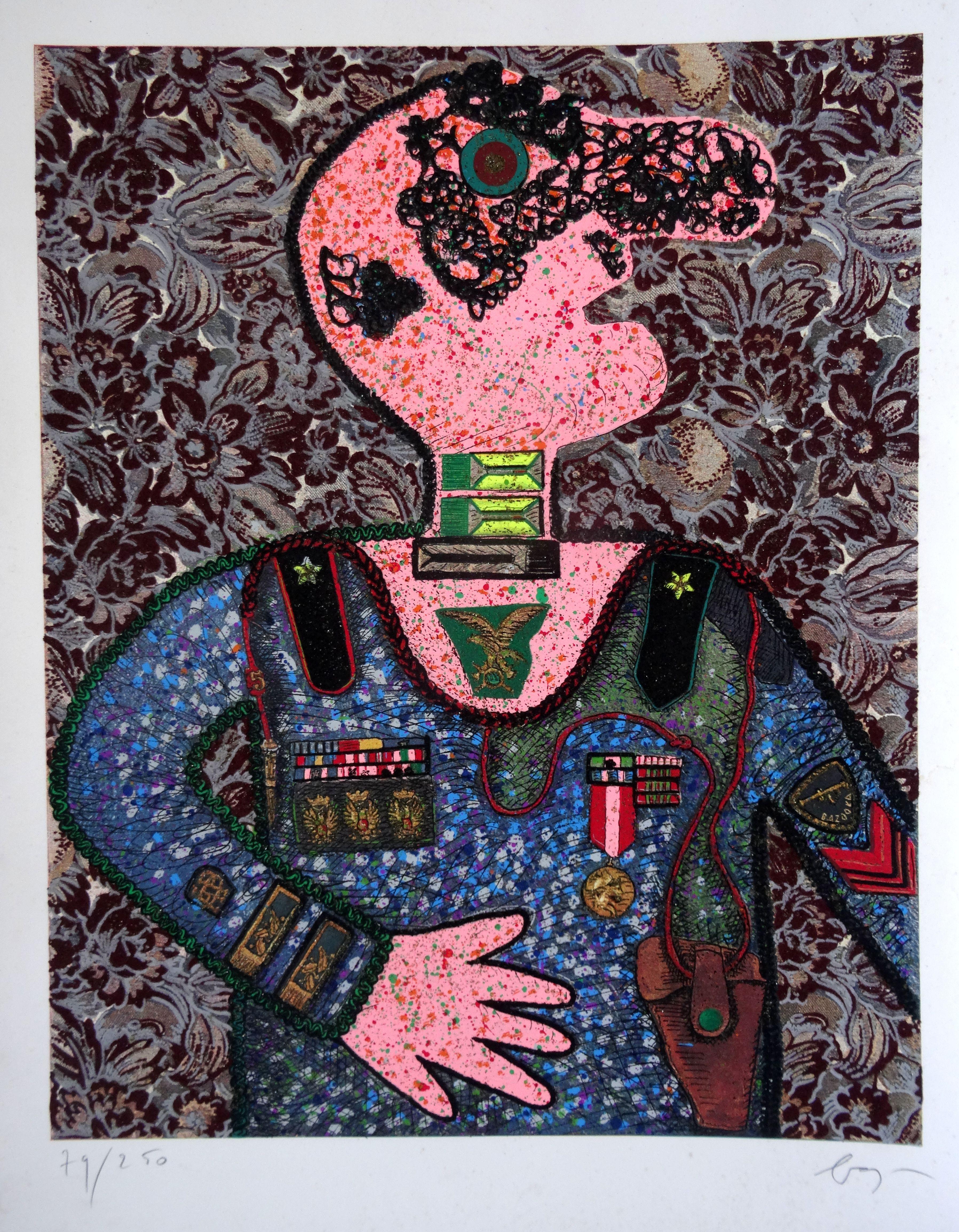 General. 79/250. Paper, author's technique, 76x61 cm