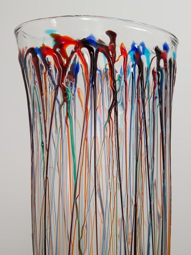 Moorish Enrico Cammozzo Murano Glass Art Vases For Sale