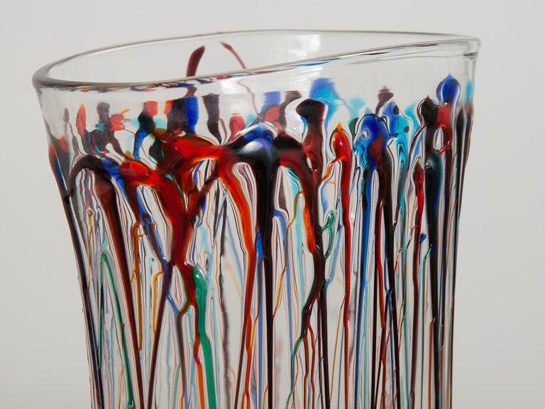 Italian Enrico Cammozzo Murano Glass Art Vases For Sale