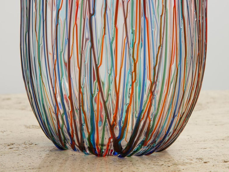 Enrico Cammozzo Murano Glass Art Vases For Sale 1