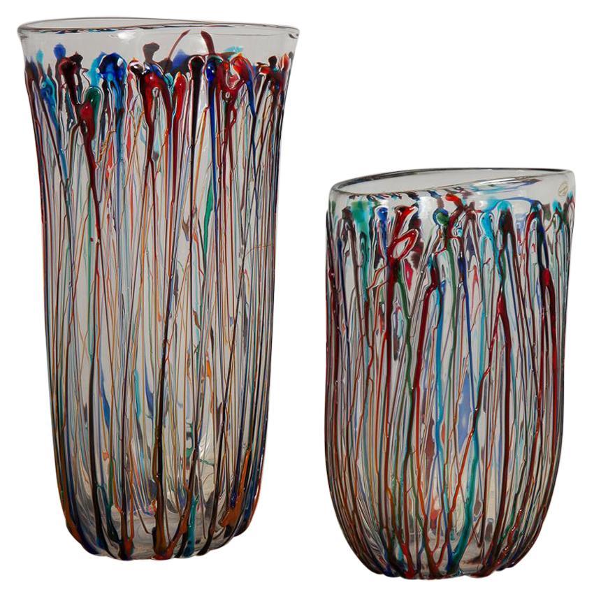 Enrico Cammozzo Murano Glass Art Vases