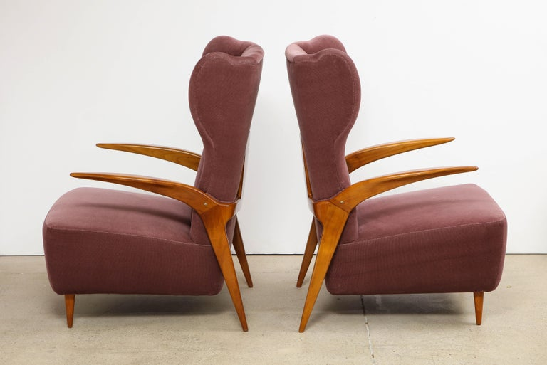 Mid-Century Modern Enrico Ciuti Attributed Chairs For Sale