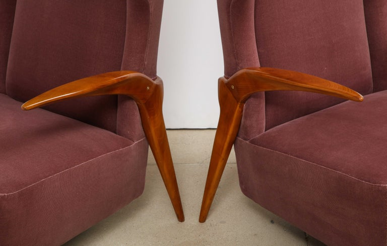 Italian Enrico Ciuti Attributed Chairs For Sale