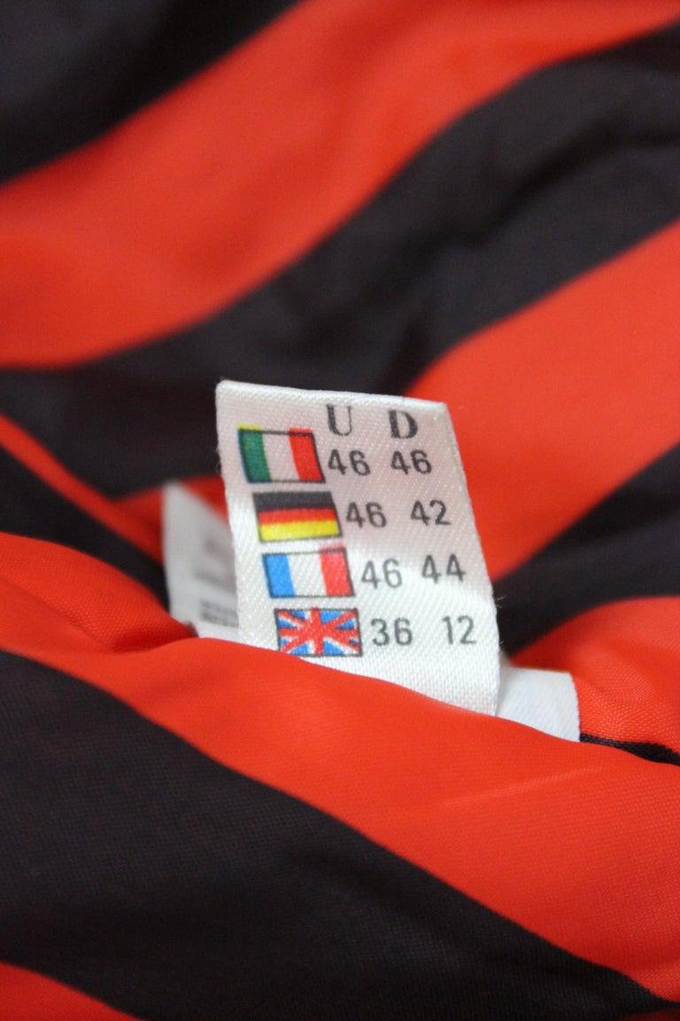 Enrico Coveri Black Red Sport Down Bomber Jacket 1980s For Sale 5