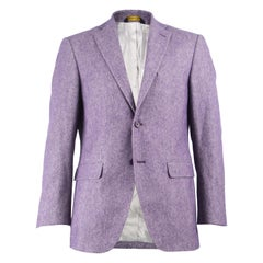 Enrico Coveri Men's Purple Virgin Wool & Cotton Made in Italy Sport Coat IT 50