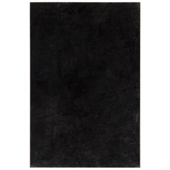 Enrico Della Torre Large Minimalist Abstract Black Charcoal Painting