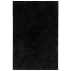 Enrico Della Torre Large Painting in Black Charcoal