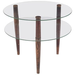 Enrico Paulucci Coffee Table in Beechwood with Vitrex Glass, 1930