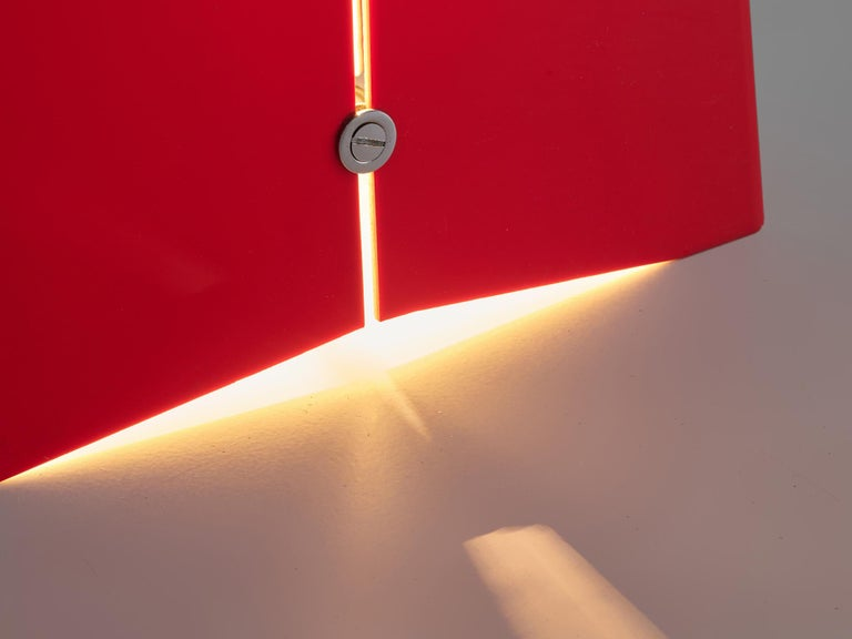 Enrico Tronconi Red 'Il Personaggi' Floor Lamp In Good Condition For Sale In Waalwijk, NL