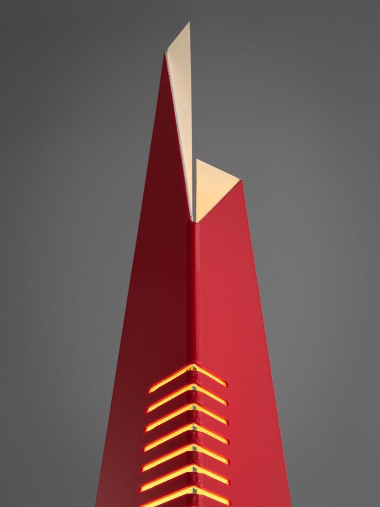 Late 20th Century Enrico Tronconi Red 'Il Personaggi' Floor Lamp For Sale