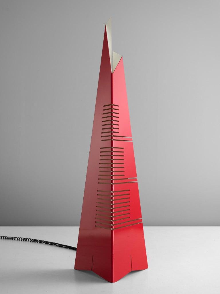 Enrico Tronconi Red 'Il Personaggi' Floor Lamp For Sale 1