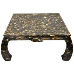 Enrique Garcel Faux Tortoise Shell Tessellated Horn Ming Style Coffee Table