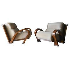 Enrique Garcel for Pace Bamboo and Chrome Lounge Chairs, circa 1970