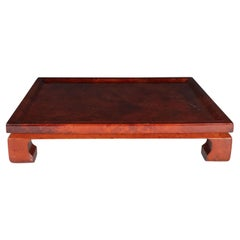 Enrique Garcel Mid-Century Modern Lacquered Goatskin Pagoda Style Bar Tray