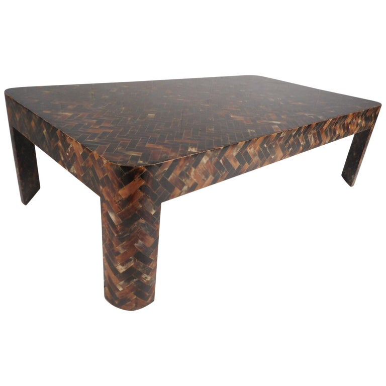 Enrique Garcel Tessellated Horn Coffee Table For Sale At