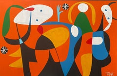 Minotauro, Contemporary Art, Abstract Painting, 21st Century
