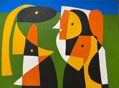 Conversation, Contemporary Art, Abstract Painting, 21st Century