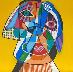 Yellow Head, Contemporary Art, Abstract Painting, 21st Century
