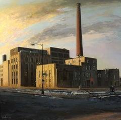 Peoria & Adams, Chicago's West Loop Neighborhood, Urban Landscape, Oil on Linen