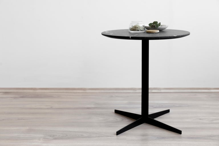 Ensamble steel and black marble Side Table In New Condition For Sale In Mexico City, MX