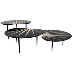 Ensemble of 3 Coffee Tables, Water Lilies, Ivan Basov