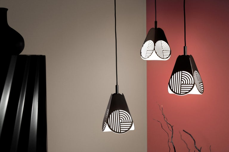 Modern Ensemble of Notic Pendant Lamps by Bower Studio For Sale