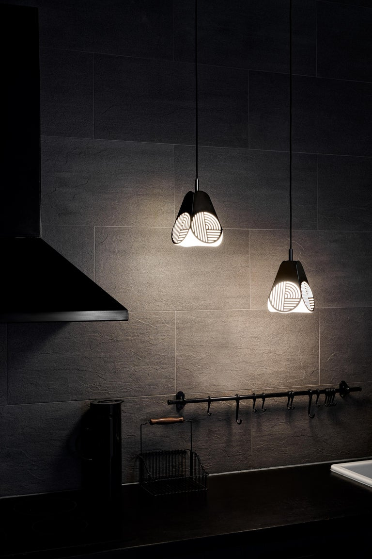 Swedish Ensemble of Notic Pendant Lamps by Bower Studio For Sale
