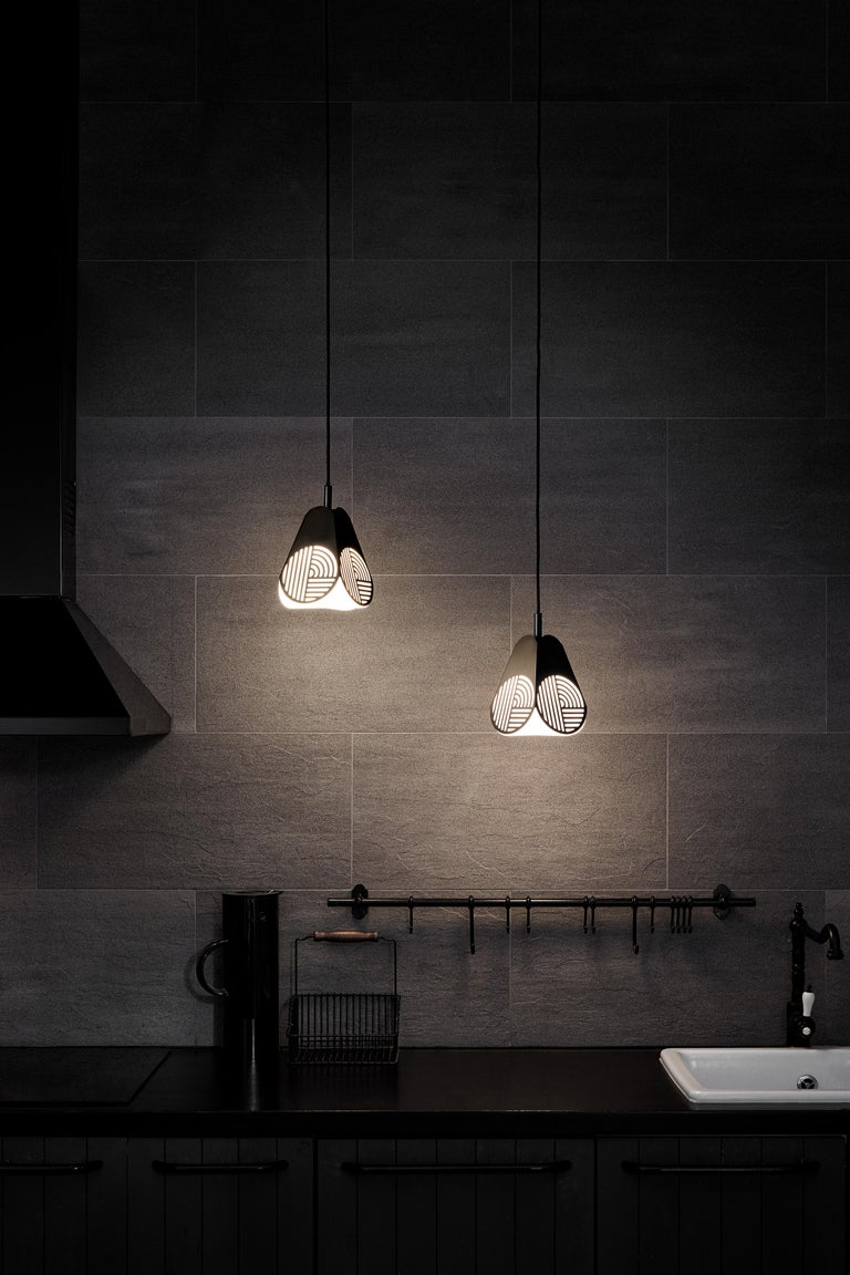 Contemporary Ensemble of Notic Pendant Lamps by Bower Studio For Sale